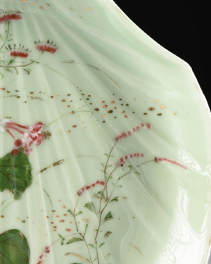 A PAIR OF CHINESE FAMILLE ROSE PAINTED CELADON GLAZED - 4