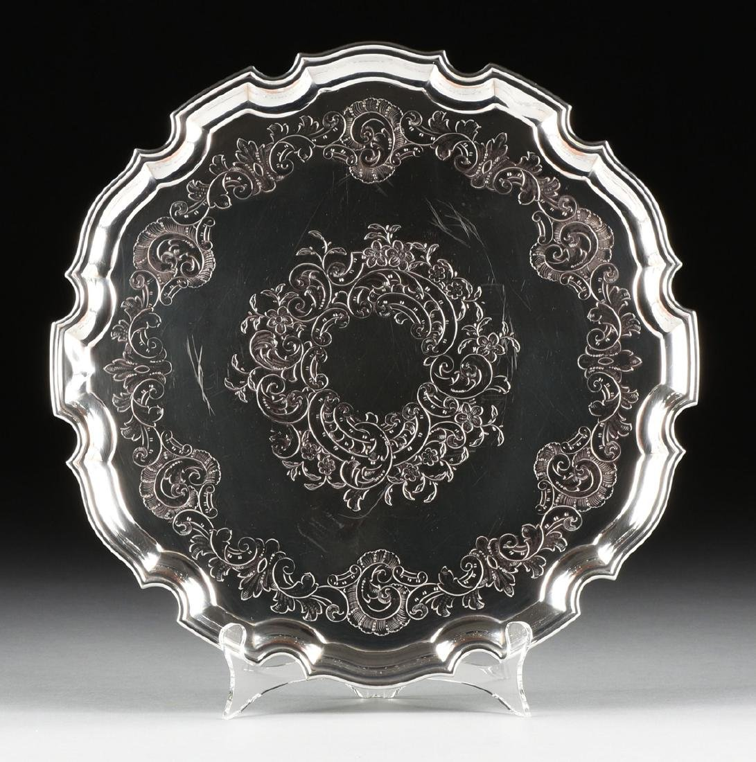 A GROUP OF THREE SILVER PLATED SERVING TRAYS, AMERICAN - 2