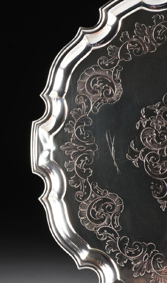 A GROUP OF THREE SILVER PLATED SERVING TRAYS, AMERICAN - 3