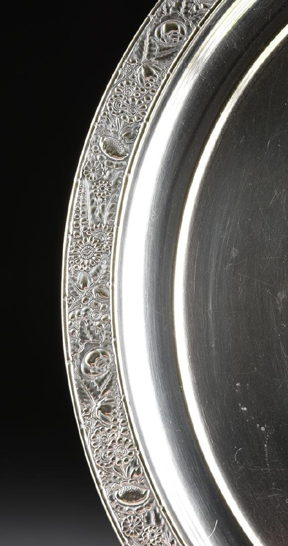 A GROUP OF THREE SILVER PLATED SERVING TRAYS, AMERICAN - 7