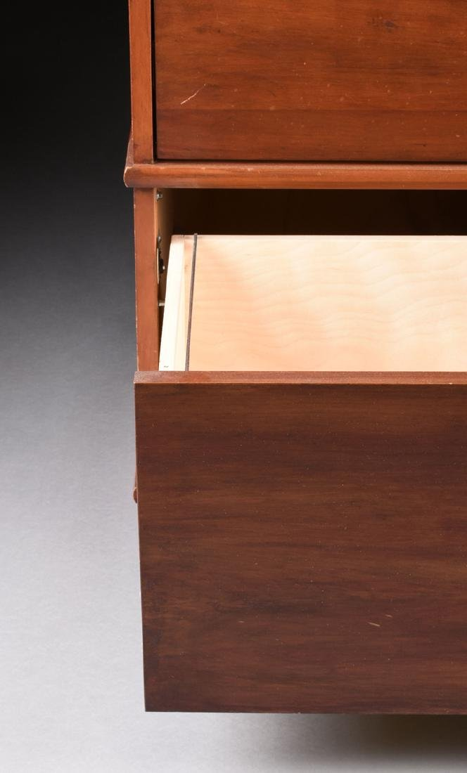 A LE VENGER MAHOGANY HORIZONTAL FILE CABINET WITH BRASS - 3