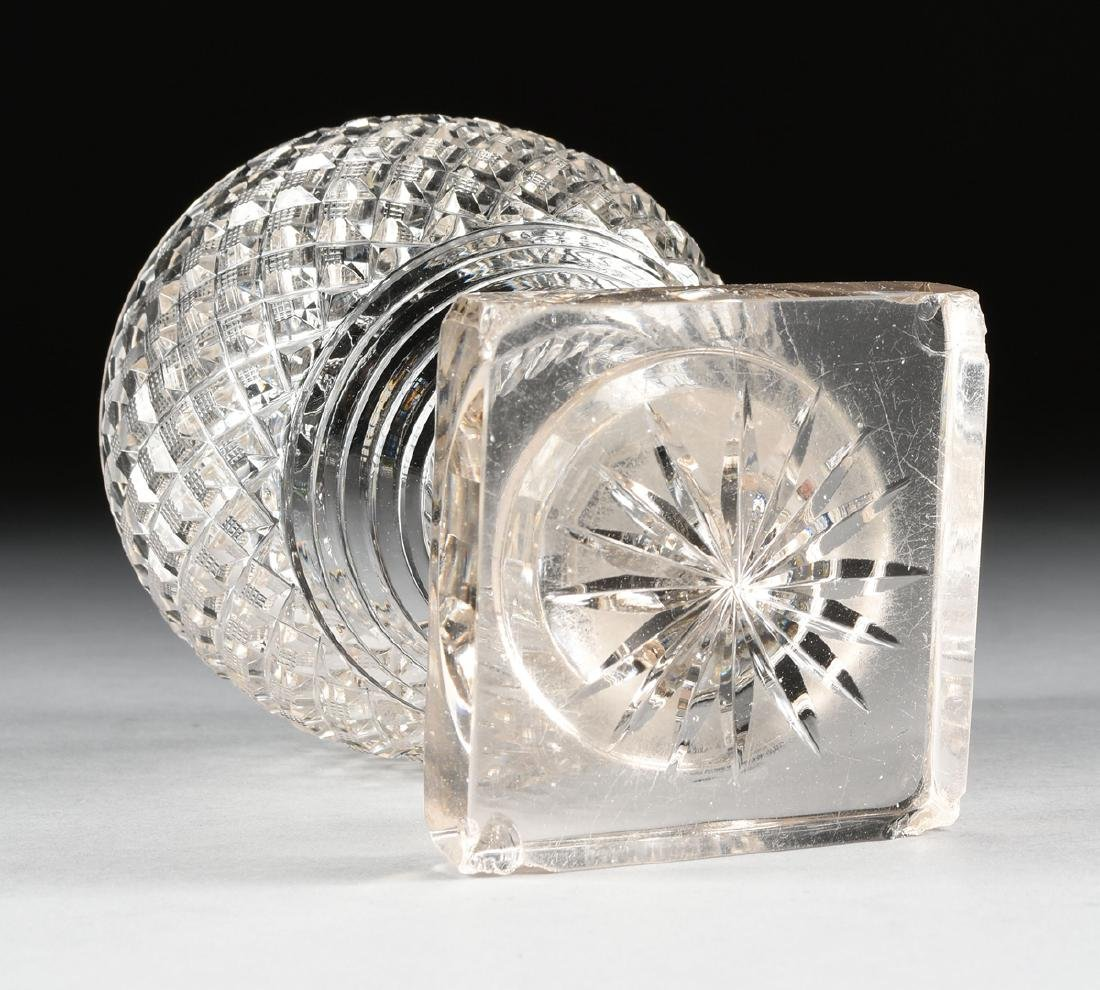 AN ANGLO-IRISH PRESSED CLEAR CRYSTAL SUGAR URN WITH - 7