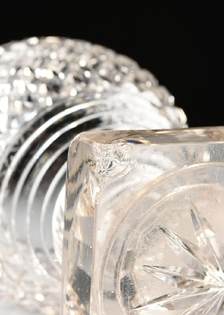 AN ANGLO-IRISH PRESSED CLEAR CRYSTAL SUGAR URN WITH - 9