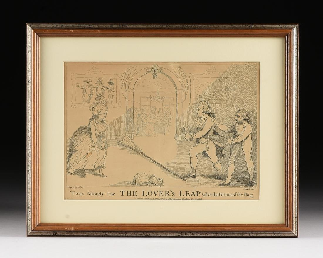 "A LITHOGRAPH, ""The Lovers Leap,"" PUBLISHED BY S. W. - 2"