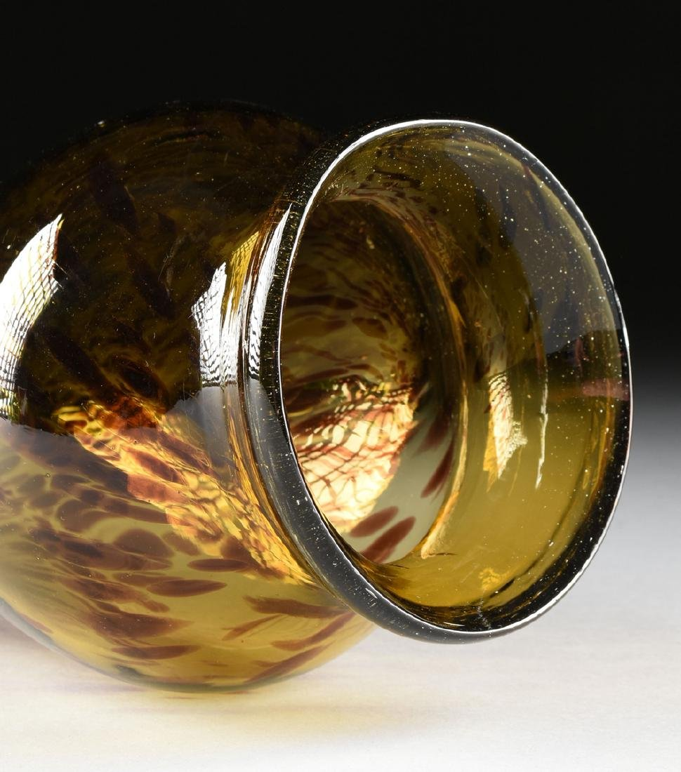 "A MEXICAN CLEAR CASED ""TORTOISE SHELL"" GLASS VASE, 20TH - 6"