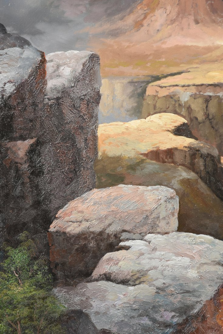 """NANCY LEE (20th Century) A PAINTING, """"The Grand Canyon, - 10"""