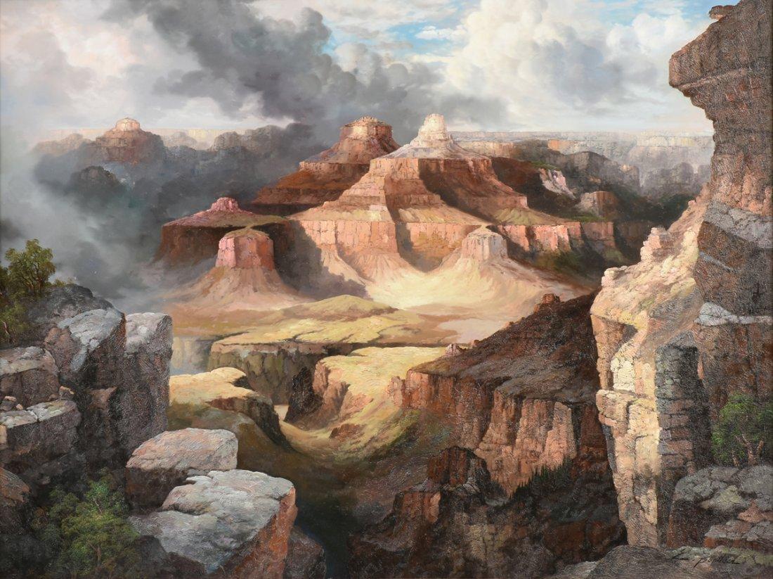 """NANCY LEE (20th Century) A PAINTING, """"The Grand Canyon,"""