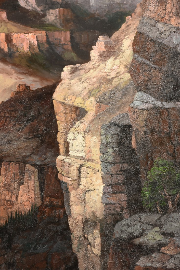 """NANCY LEE (20th Century) A PAINTING, """"The Grand Canyon, - 5"""
