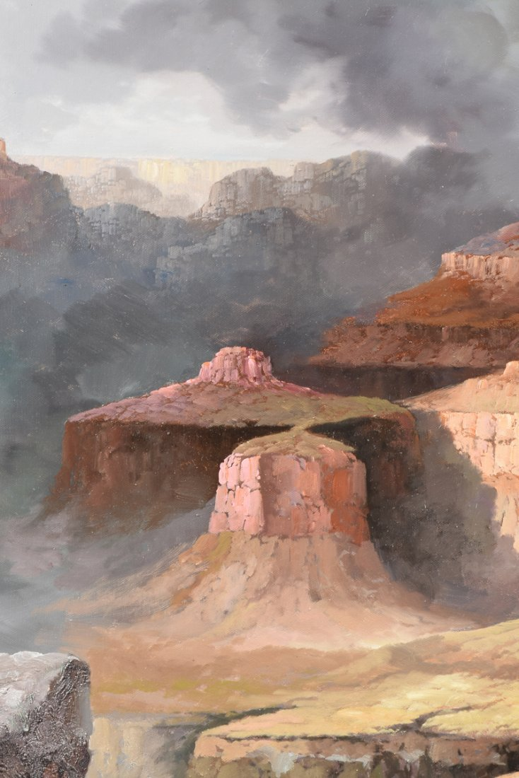 """NANCY LEE (20th Century) A PAINTING, """"The Grand Canyon, - 8"""