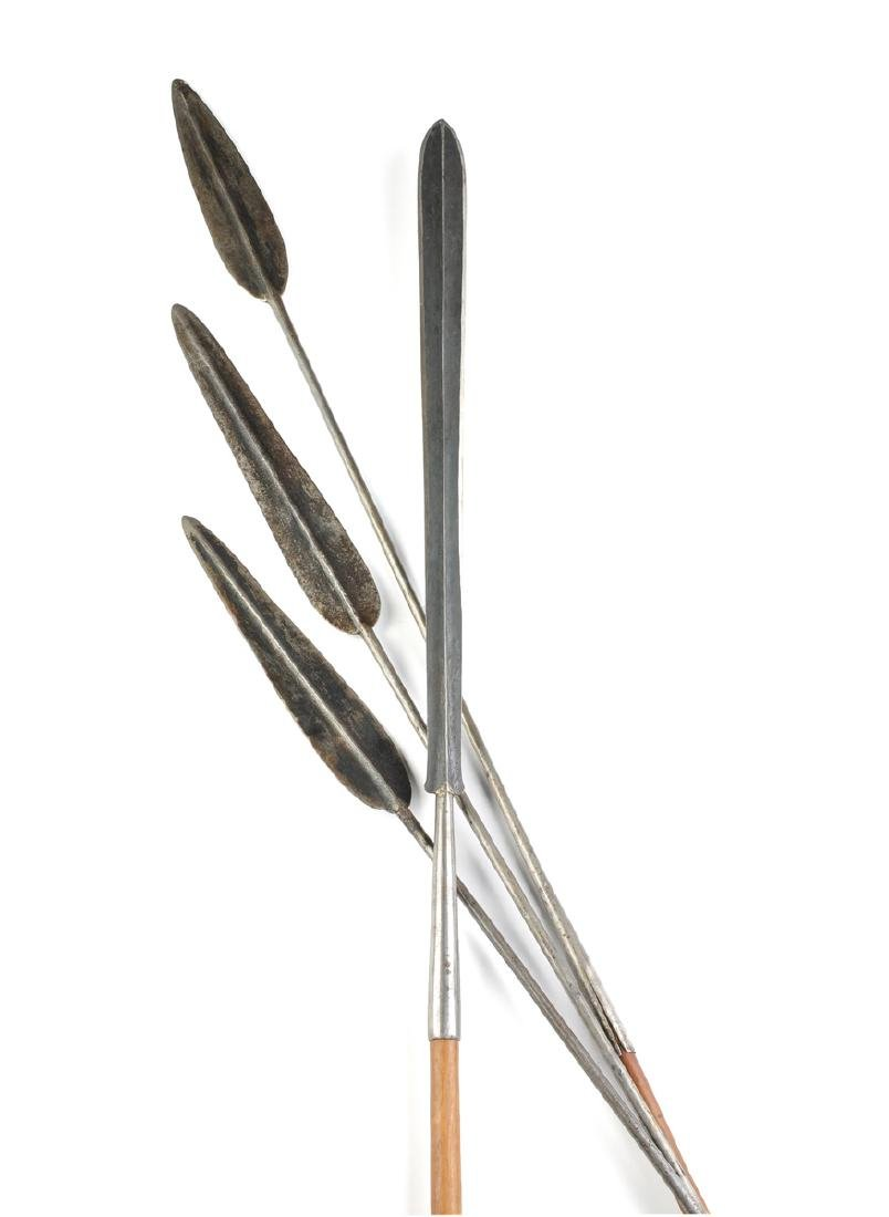 A GROUP OF FOUR EAST AFRICAN TRIBAL SPEARS, POSSIBLY - 2