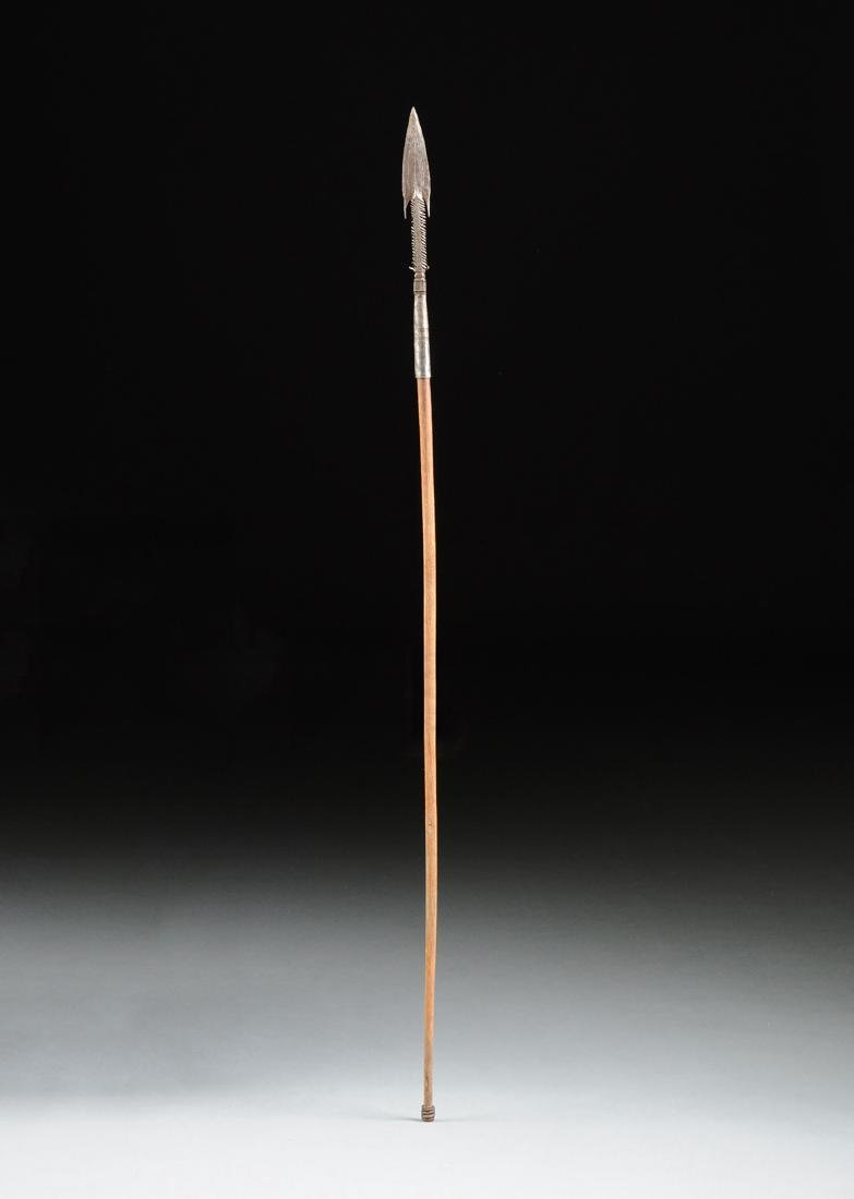 AN AFRICAN TRIBAL THROWING SPEAR, POSSIBLY TUBU DAZA - 2