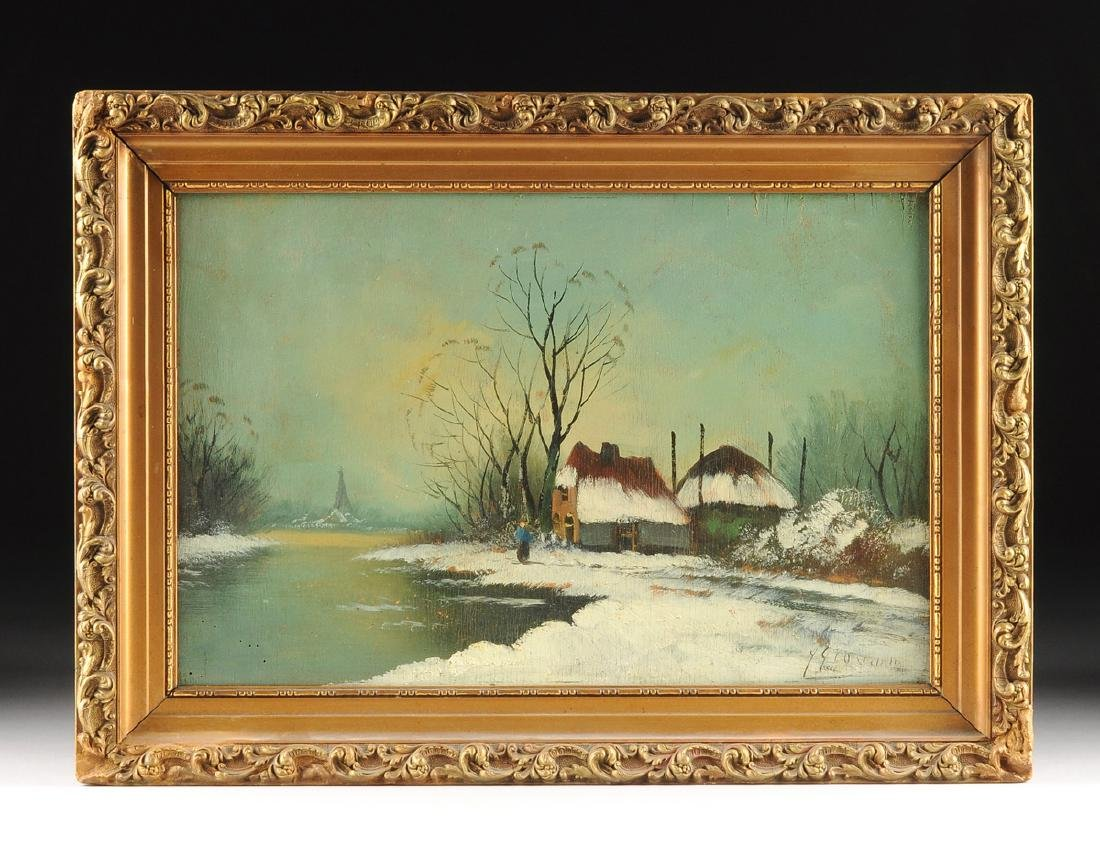 """Y GIOVANNE, A PAINTING, """"Winter Scene,"""" - 2"""