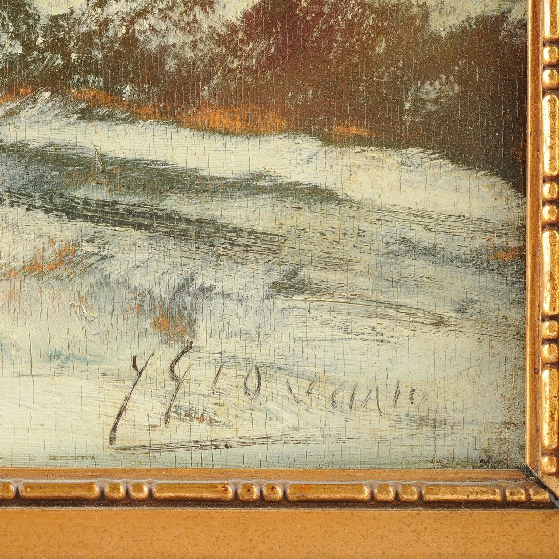 """Y GIOVANNE, A PAINTING, """"Winter Scene,"""" - 3"""