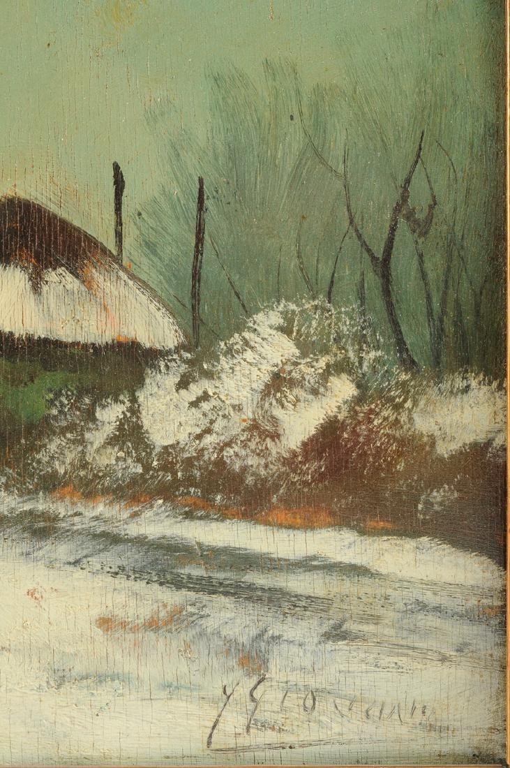 """Y GIOVANNE, A PAINTING, """"Winter Scene,"""" - 4"""