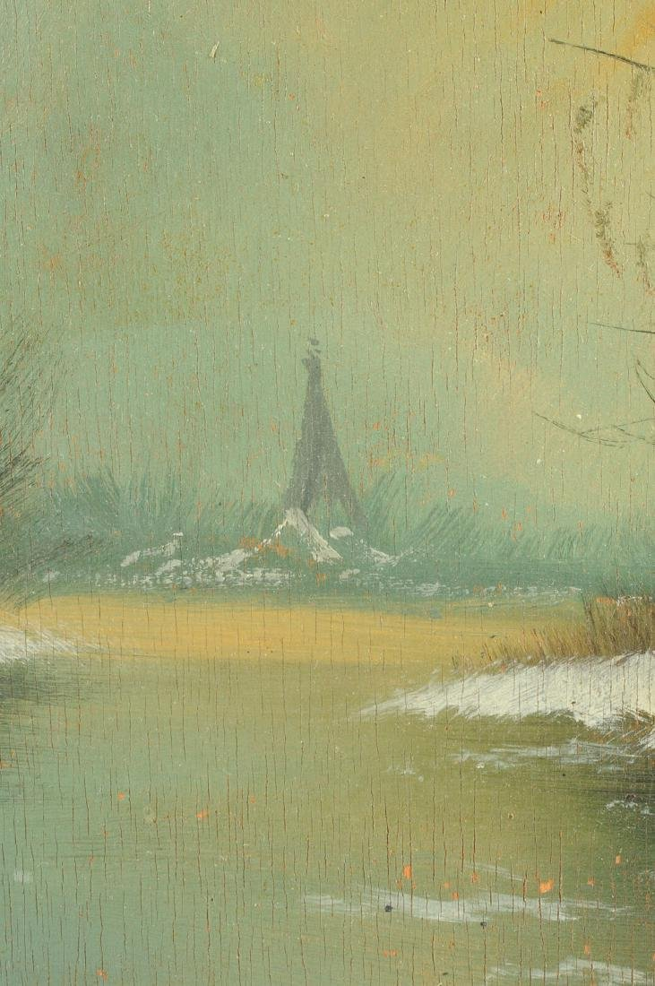 """Y GIOVANNE, A PAINTING, """"Winter Scene,"""" - 5"""