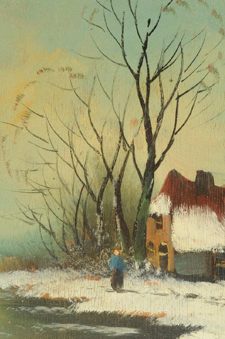 """Y GIOVANNE, A PAINTING, """"Winter Scene,"""" - 6"""