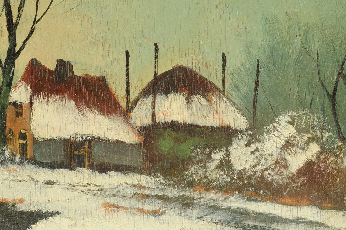 """Y GIOVANNE, A PAINTING, """"Winter Scene,"""" - 7"""