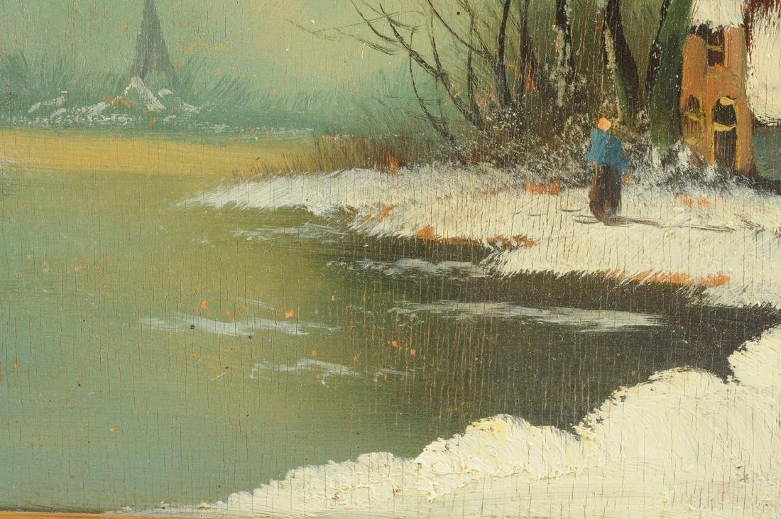 """Y GIOVANNE, A PAINTING, """"Winter Scene,"""" - 8"""
