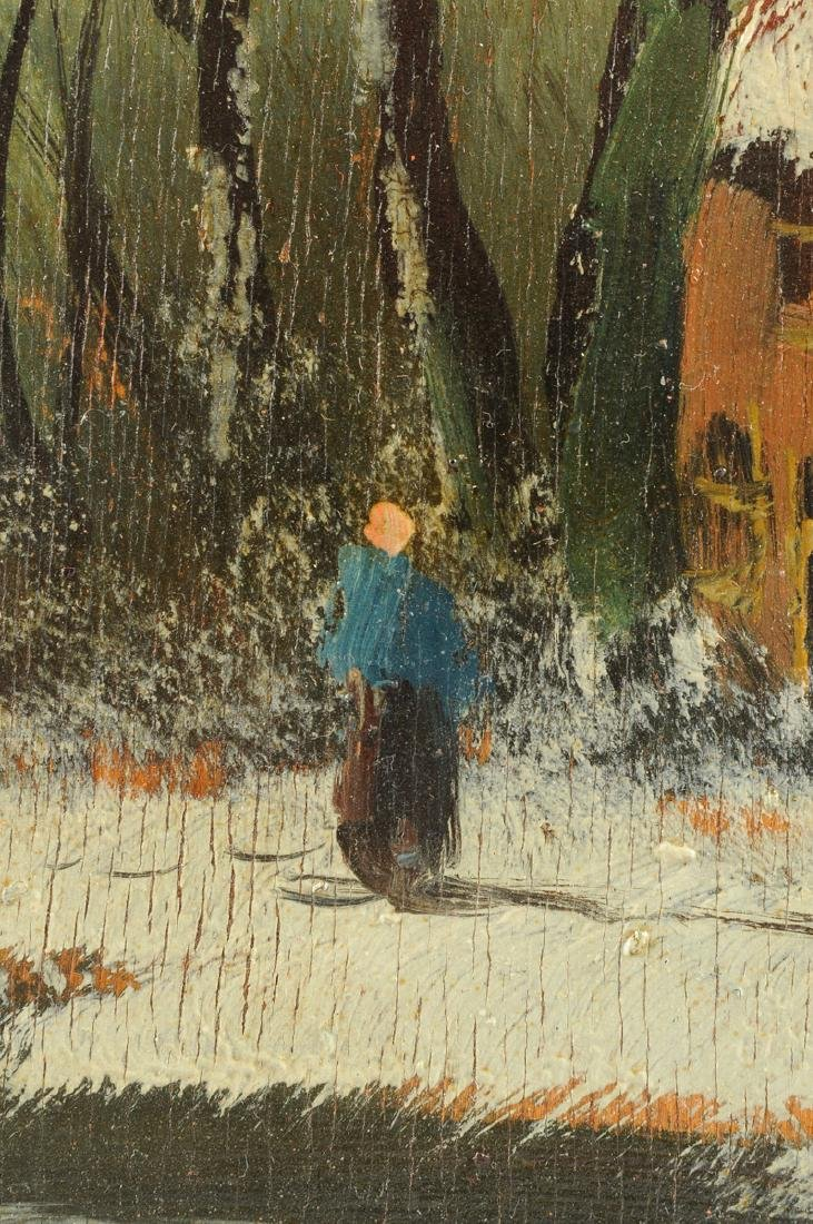 """Y GIOVANNE, A PAINTING, """"Winter Scene,"""" - 9"""