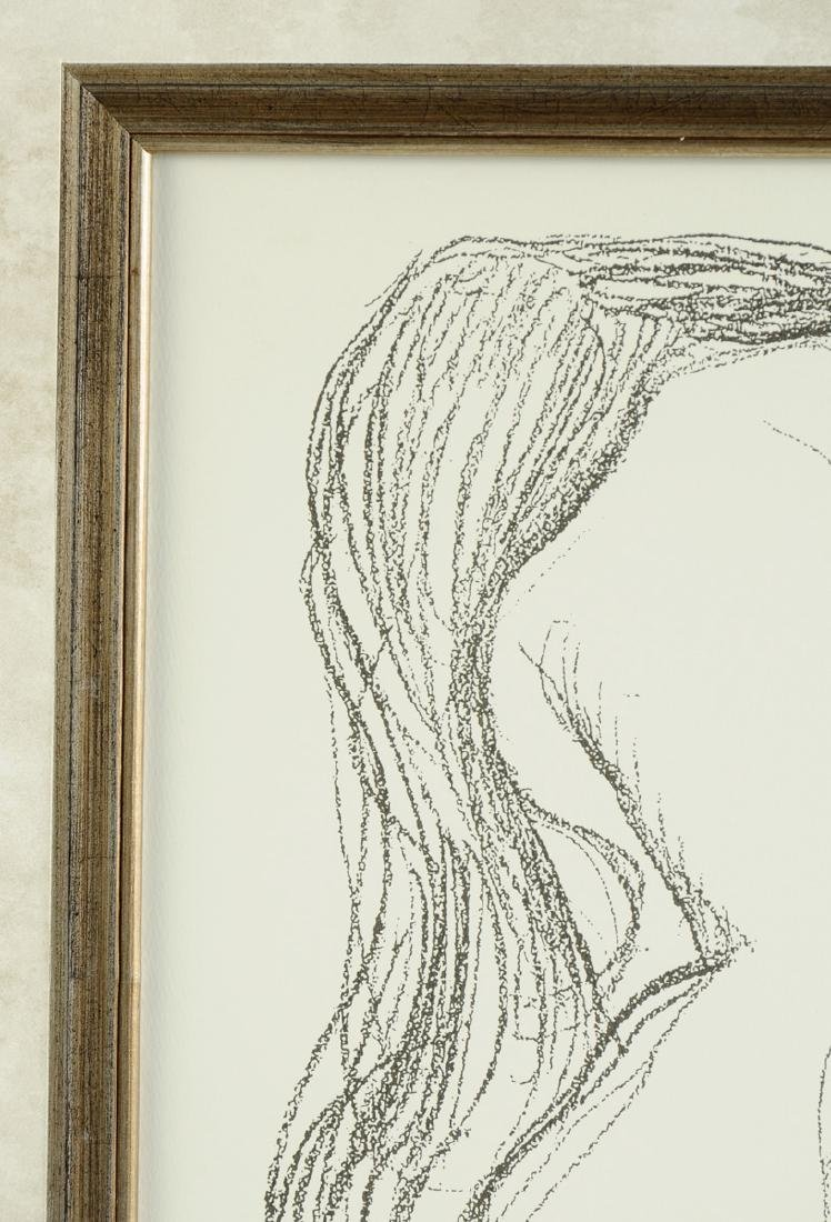 "after GUSTAV KLIMT (Austrian 1862-1918) A PRINT, ""Study - 4"
