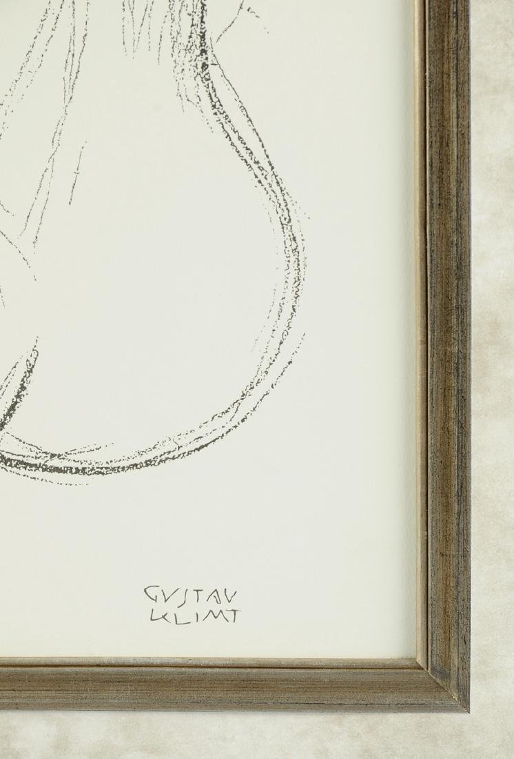 "after GUSTAV KLIMT (Austrian 1862-1918) A PRINT, ""Study - 6"