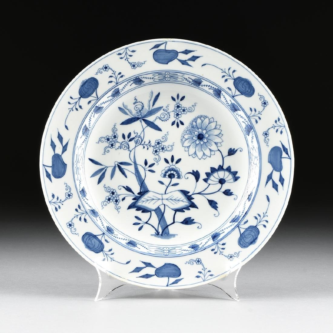 "A MEISSEN STYLE PORCELAIN CHARGER IN THE ""BLUE ONION"""