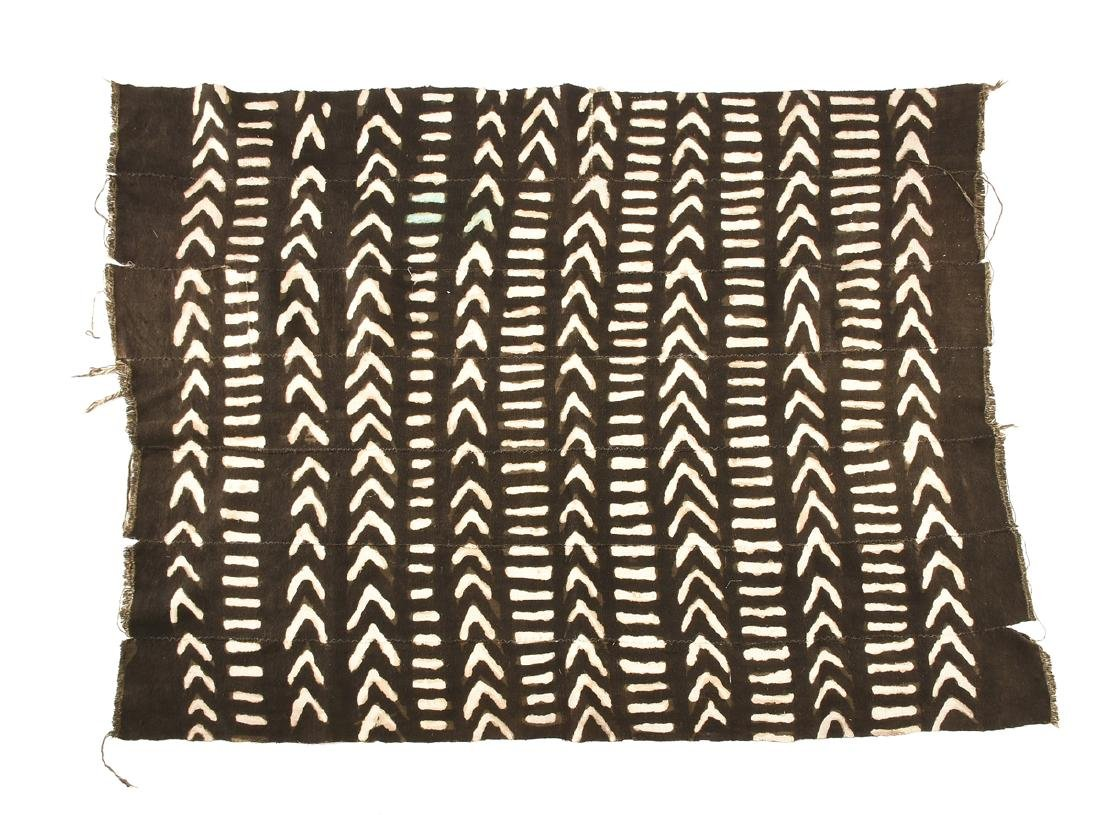 "AN AFRICAN DYED COTTON ""BOGOLANFINI"" TEXTILE, MALI,"