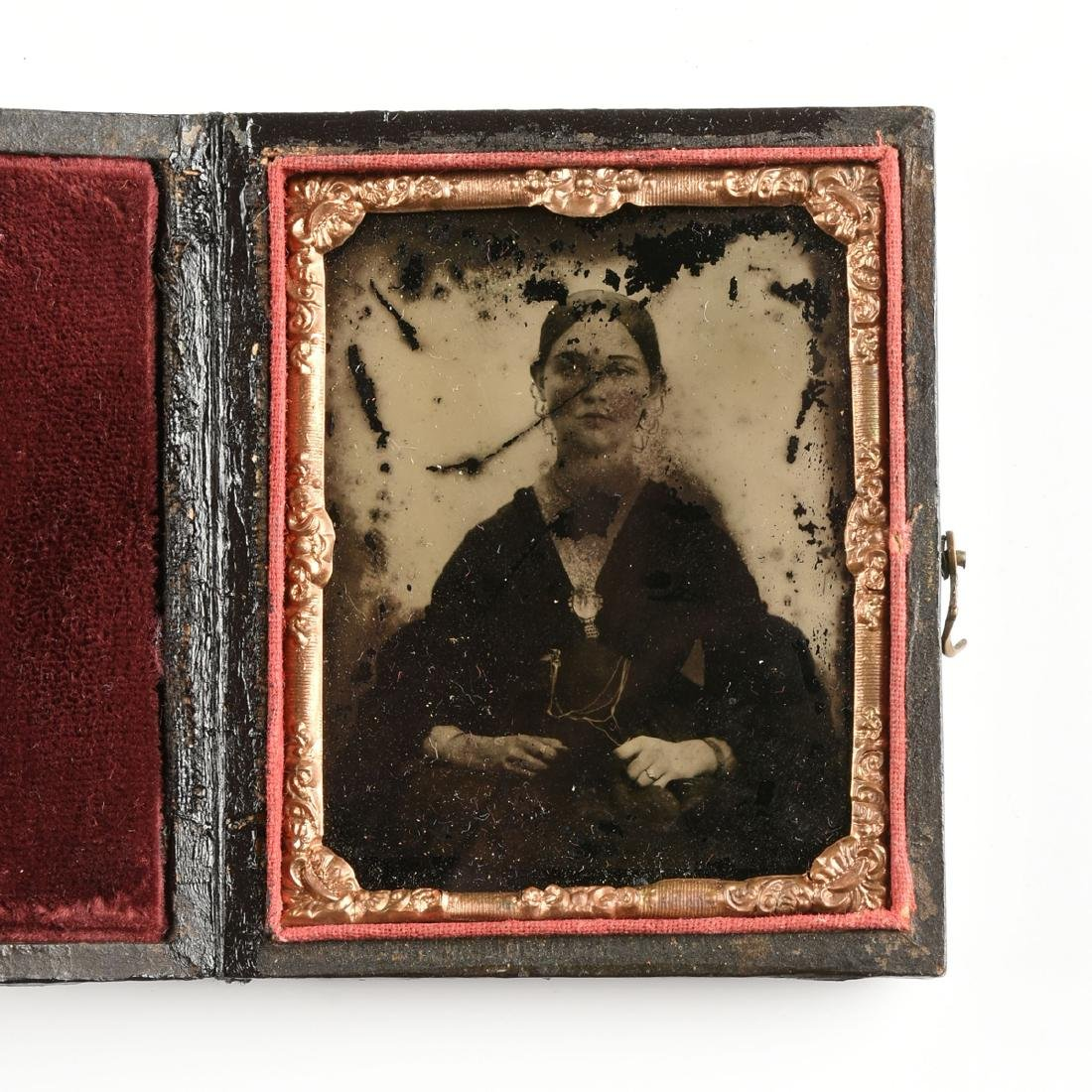 A GROUP OF FIVE EARLY PHOTOGRAPHIC PORTRAITS IN LEATHER - 10