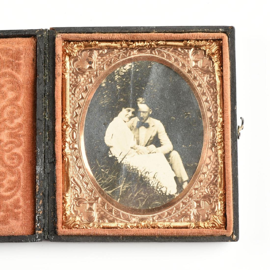 A GROUP OF FIVE EARLY PHOTOGRAPHIC PORTRAITS IN LEATHER - 4