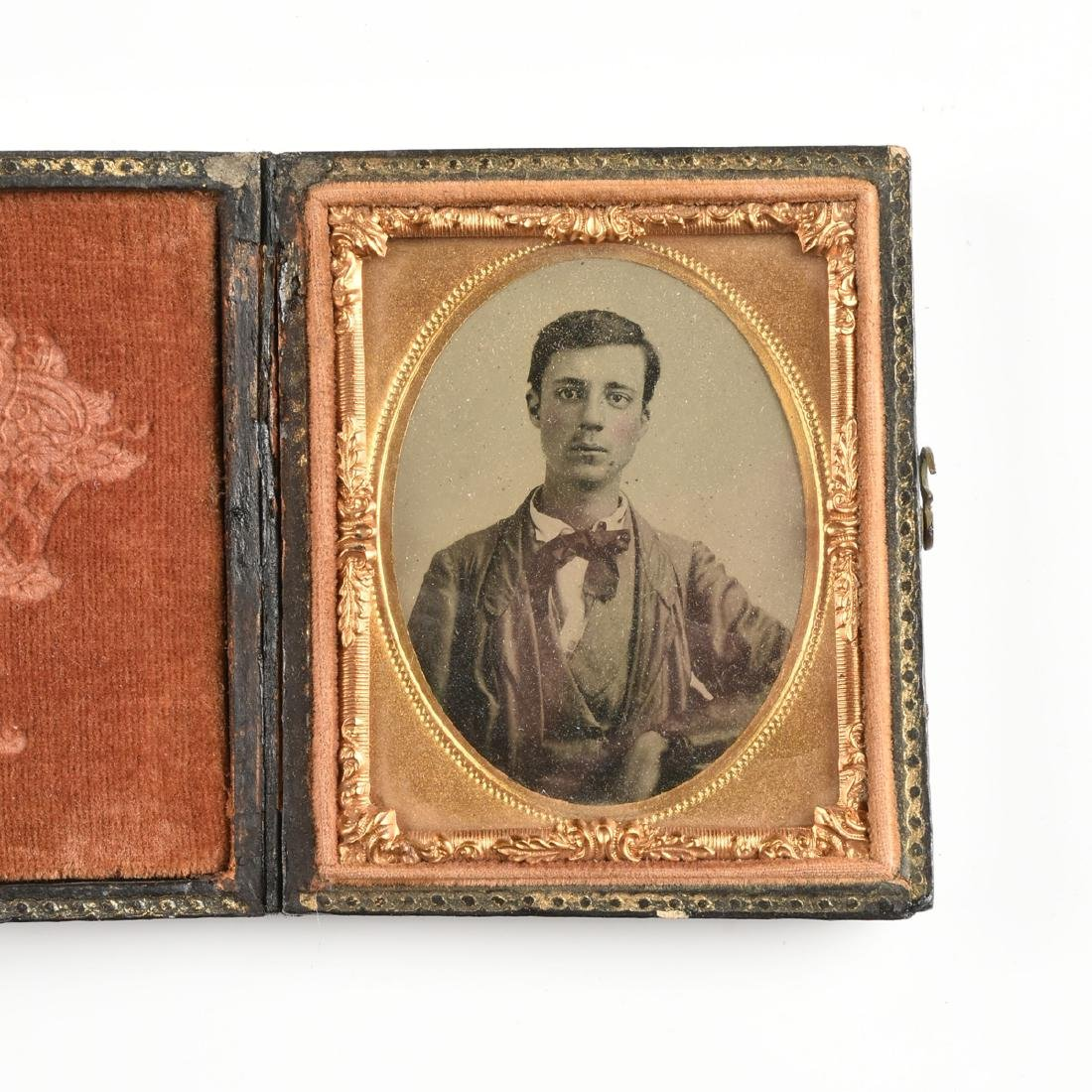 A GROUP OF FIVE EARLY PHOTOGRAPHIC PORTRAITS IN LEATHER - 6