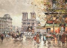 ANTOINE BLANCHARD (French 1910-1988) A PAINTING,