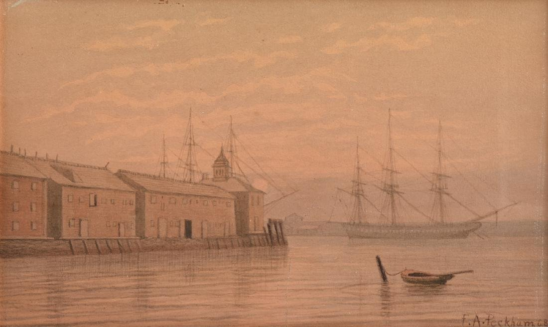 FELIX AUGUSTUS PECKHAM (American 1837-1876) A PAINTING,
