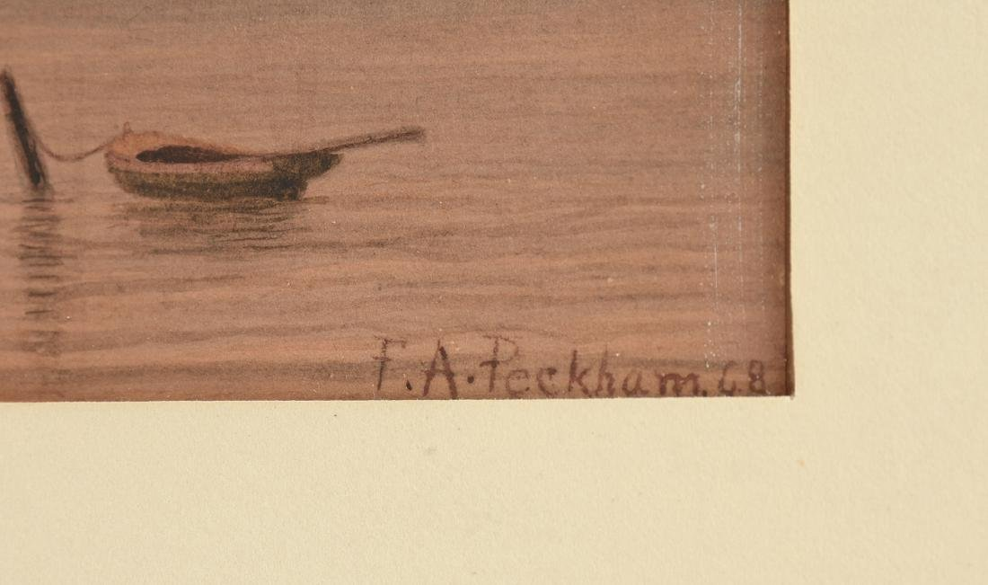FELIX AUGUSTUS PECKHAM (American 1837-1876) A PAINTING, - 3