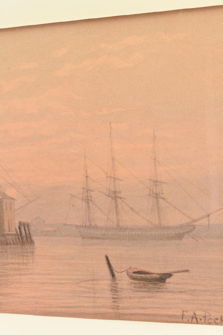 FELIX AUGUSTUS PECKHAM (American 1837-1876) A PAINTING, - 4