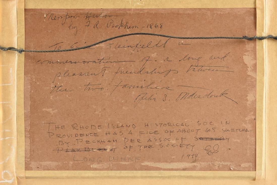 FELIX AUGUSTUS PECKHAM (American 1837-1876) A PAINTING, - 7