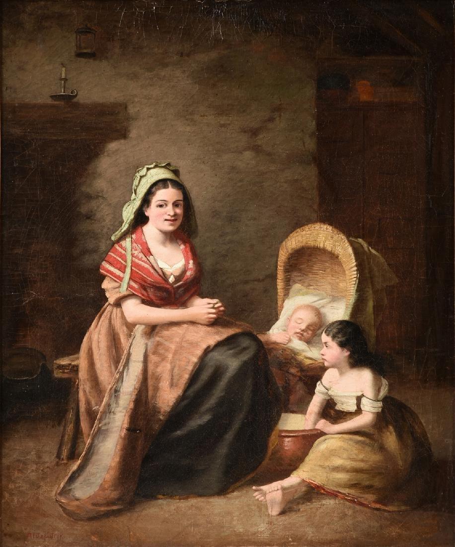 ARTHUR FITZPATRICK (British 1836-1886) A PAINTING,