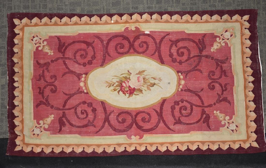 AN ANTIQUE AUBUSSON SLIT WOVEN TAPESTRY PANEL, POSSIBLY - 2