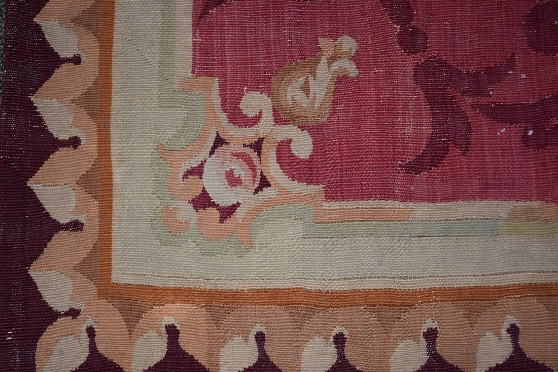 AN ANTIQUE AUBUSSON SLIT WOVEN TAPESTRY PANEL, POSSIBLY - 3