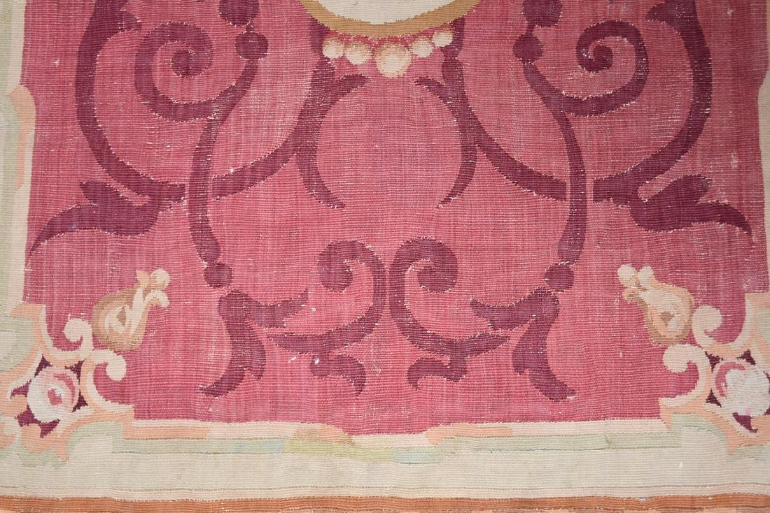 AN ANTIQUE AUBUSSON SLIT WOVEN TAPESTRY PANEL, POSSIBLY - 4