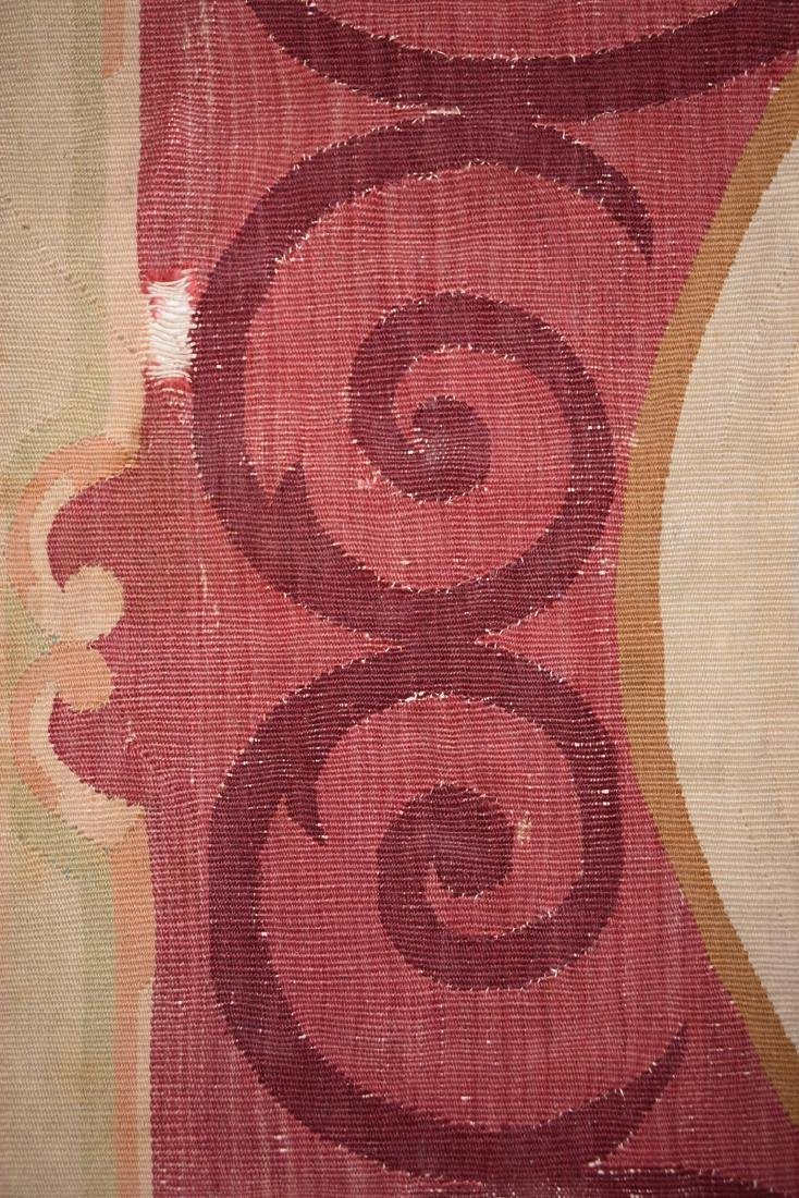 AN ANTIQUE AUBUSSON SLIT WOVEN TAPESTRY PANEL, POSSIBLY - 6