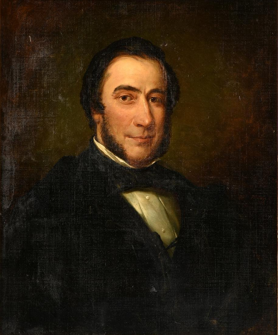 "J.W. SAGE (19th Century) A PAINTING, ""Portrait of a"