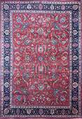 A PERSIAN HAND KNOTTED WOOL RUG, KASHAN, CENTRAL IRAN,