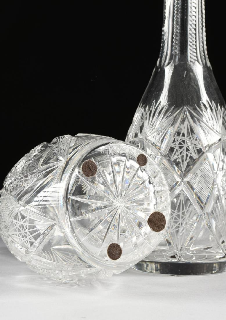 A GROUP OF FOUR CRYSTAL DECANTERS WITH STOPPERS, - 6