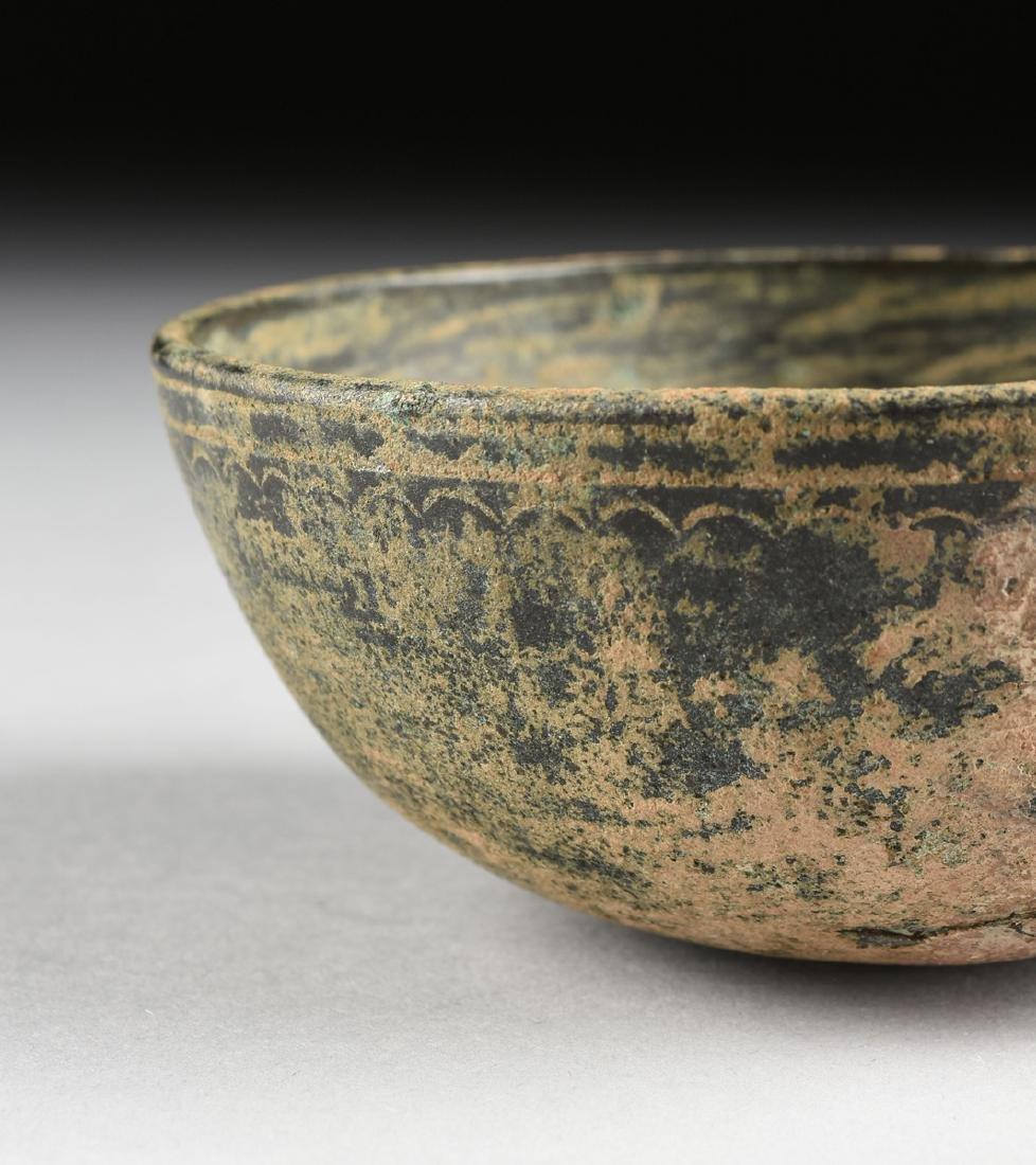 AN ANCIENT ROMAN BRONZE BOWL, FIRST CENTURY A.D., - 2