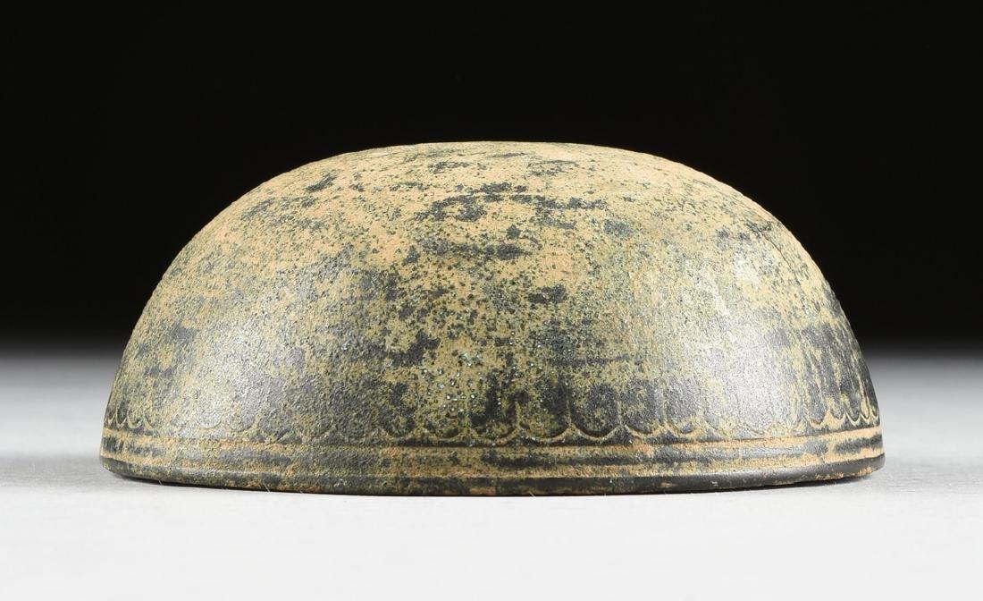 AN ANCIENT ROMAN BRONZE BOWL, FIRST CENTURY A.D., - 4