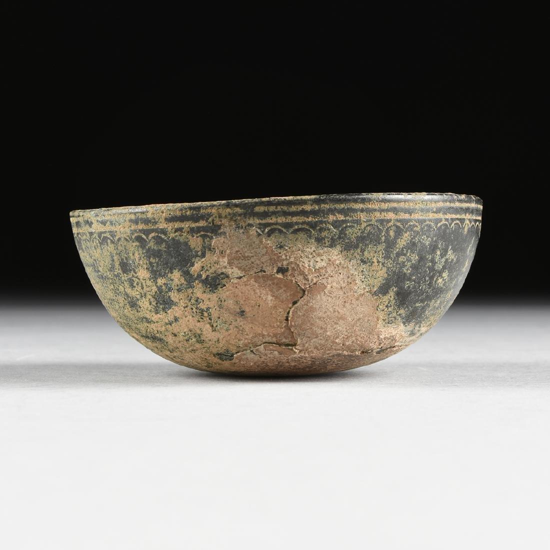 AN ANCIENT ROMAN BRONZE BOWL, FIRST CENTURY A.D., - 5