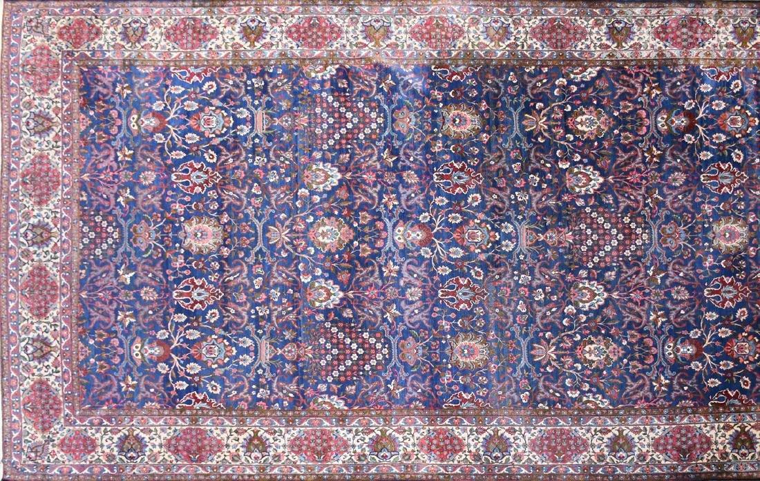 AN ANTIQUE PERSIAN BAKHTIARI CARPET,