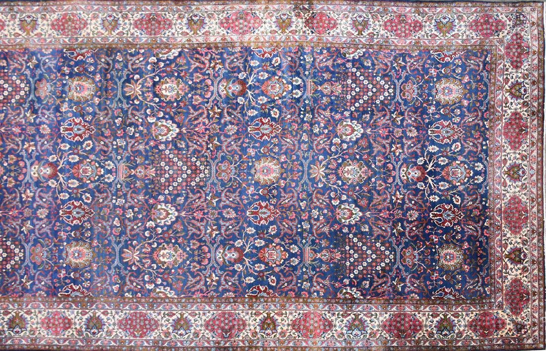 AN ANTIQUE PERSIAN BAKHTIARI CARPET, - 2