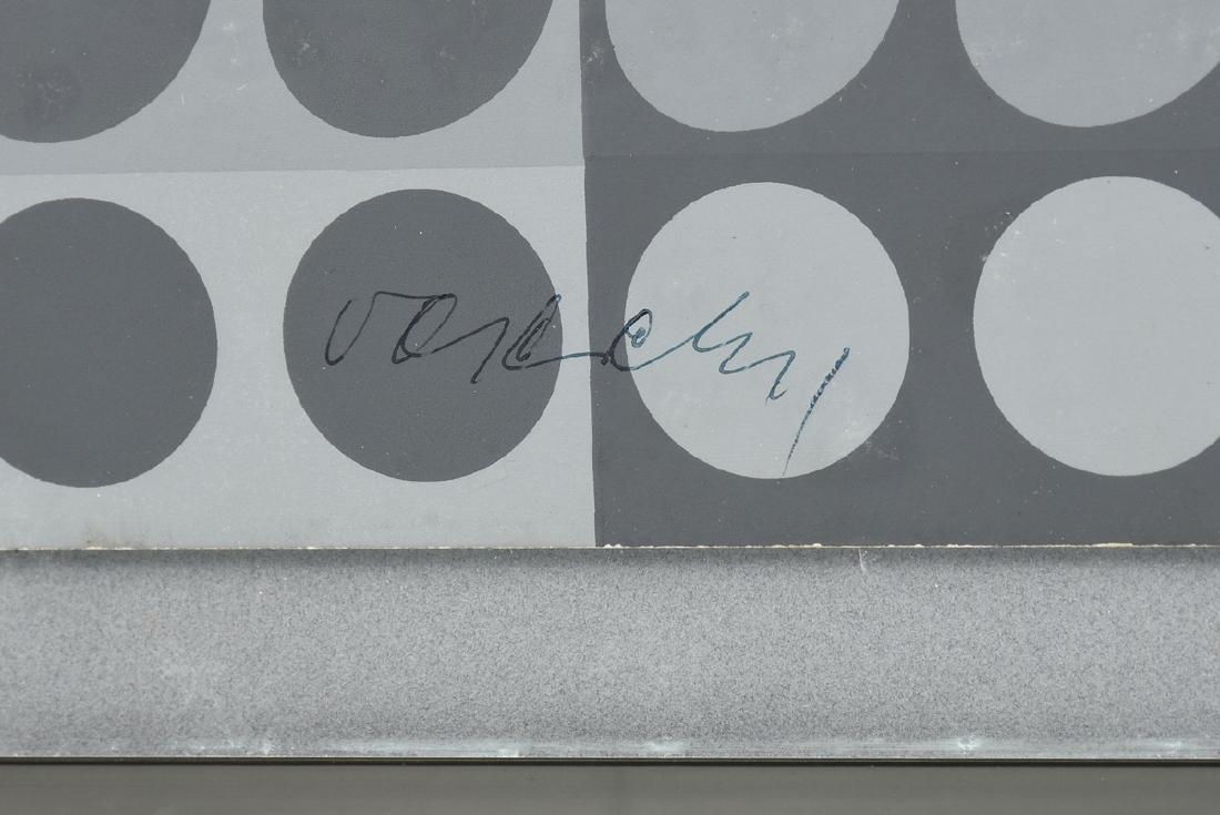 "VICTOR VASARELY (Hungarian 1906-1997) A PRINT, ""Dots"" - 3"