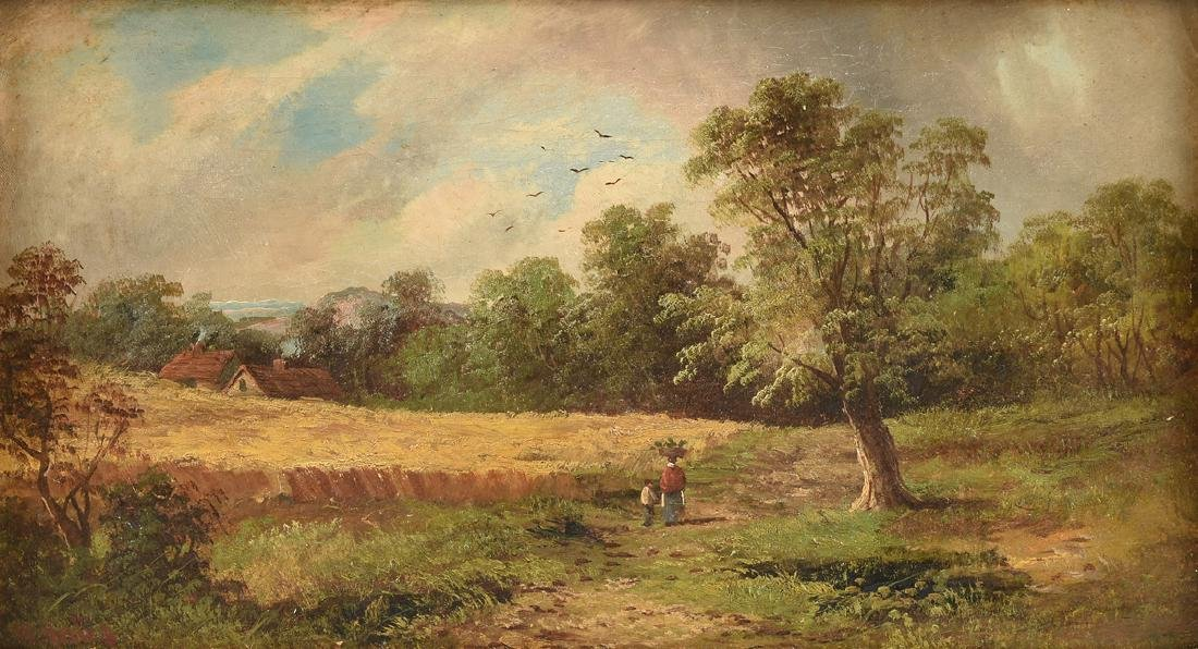 W. MATES (French School 19th Century) A PAINTING,